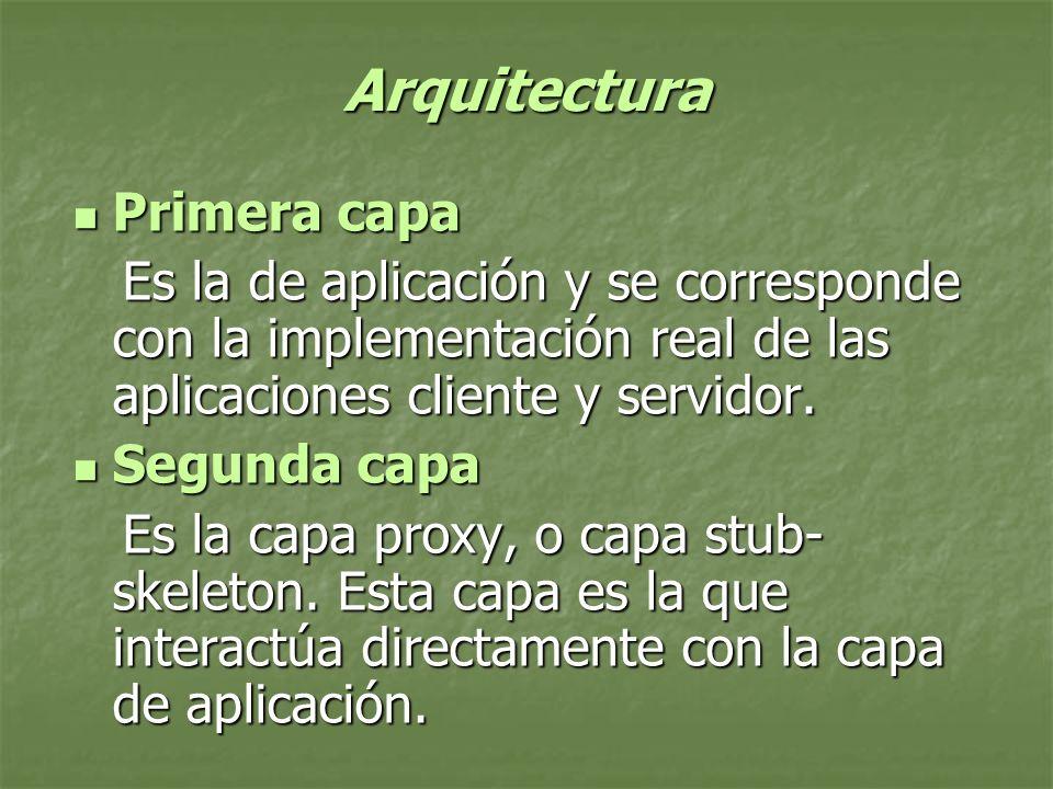 Arquitectura Primera capa