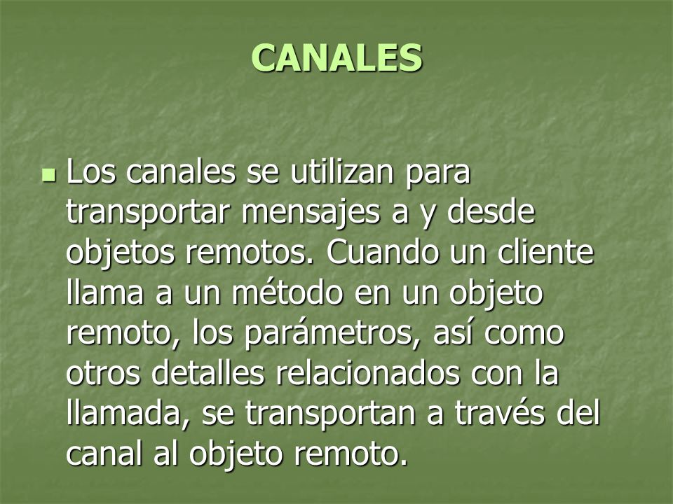 CANALES