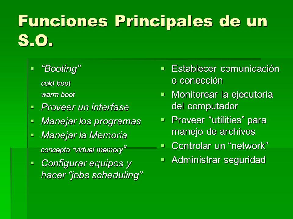Funciones Principales de un S.O.