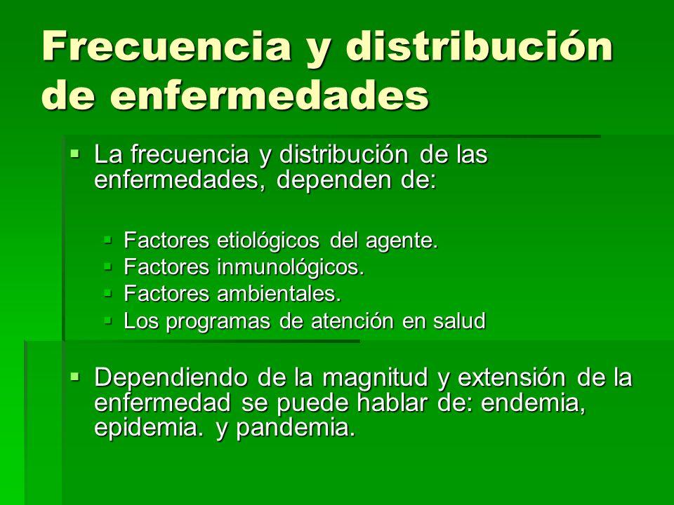 Frecuencia y distribución de enfermedades