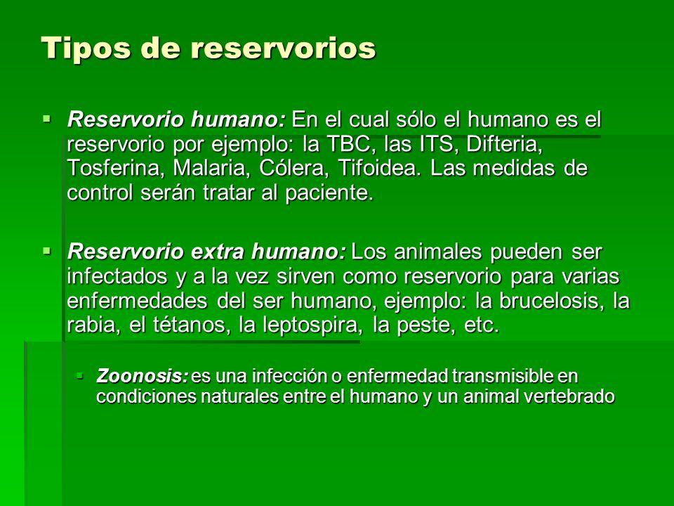 Tipos de reservorios