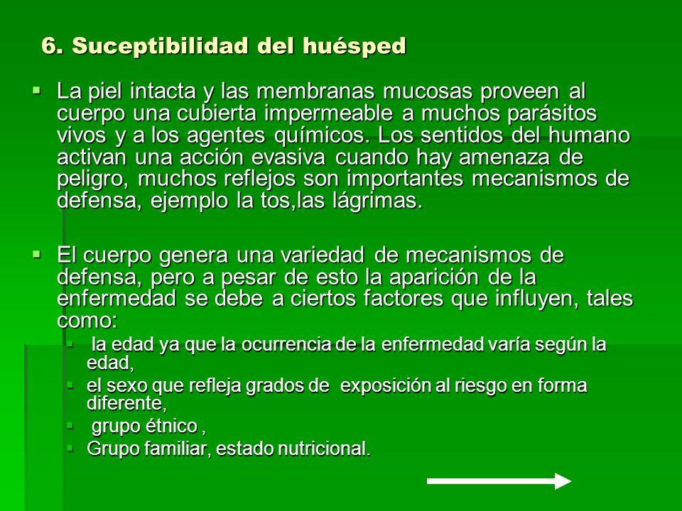 6. Suceptibilidad del huésped