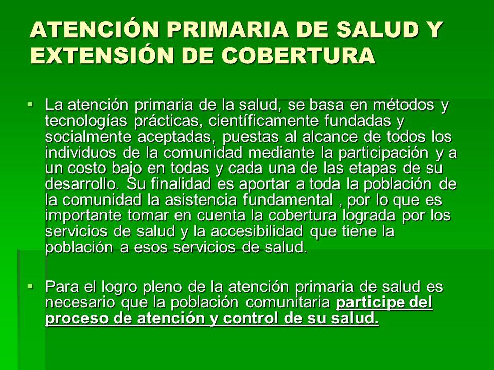 ATENCIÓN PRIMARIA DE SALUD Y EXTENSIÓN DE COBERTURA