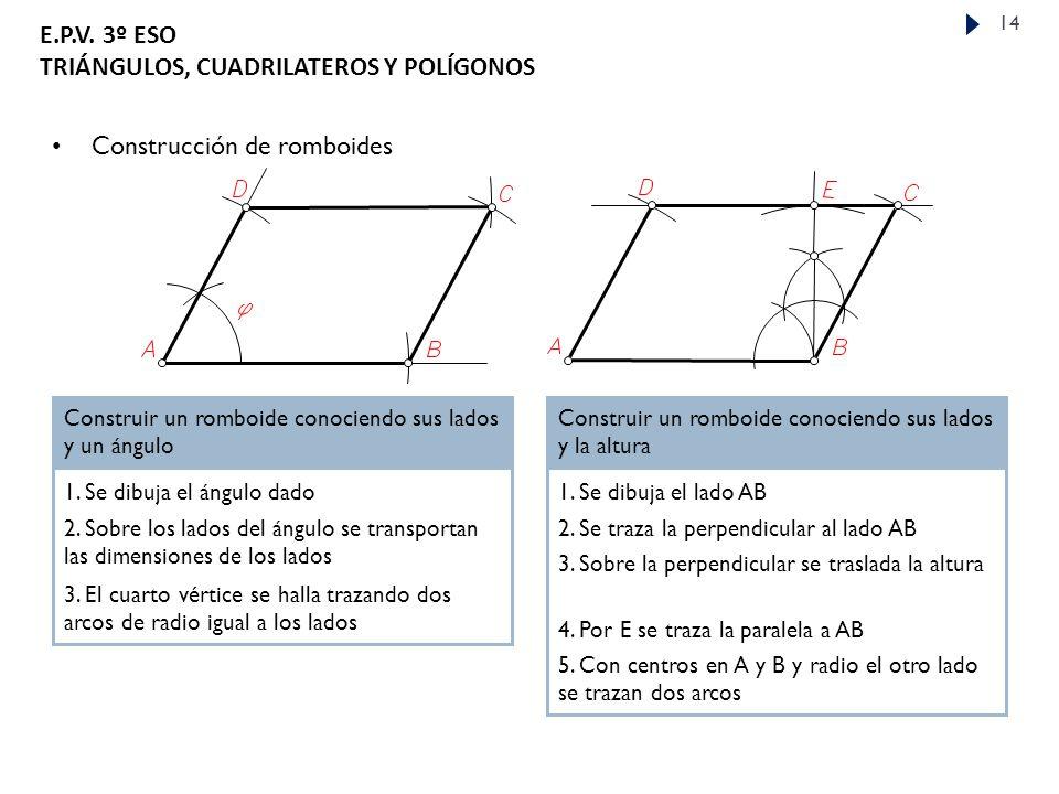 Construcción de romboides