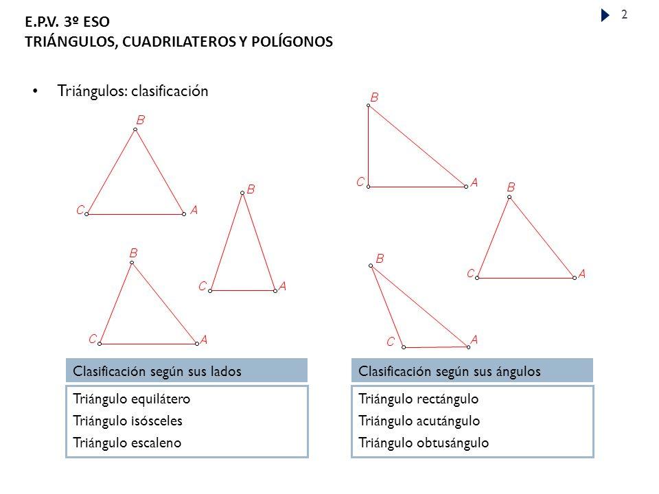 Triángulos: clasificación