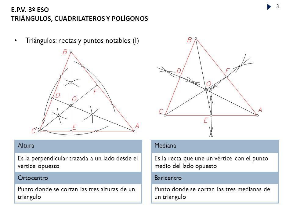 Triángulos: rectas y puntos notables (I)