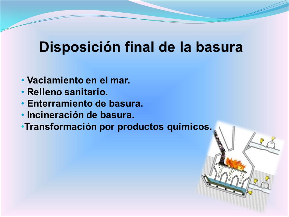 Disposición final de la basura