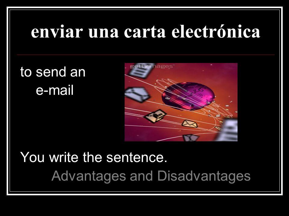 enviar una carta electrónica