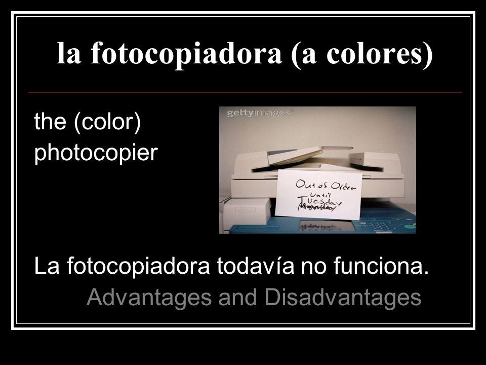 la fotocopiadora (a colores)