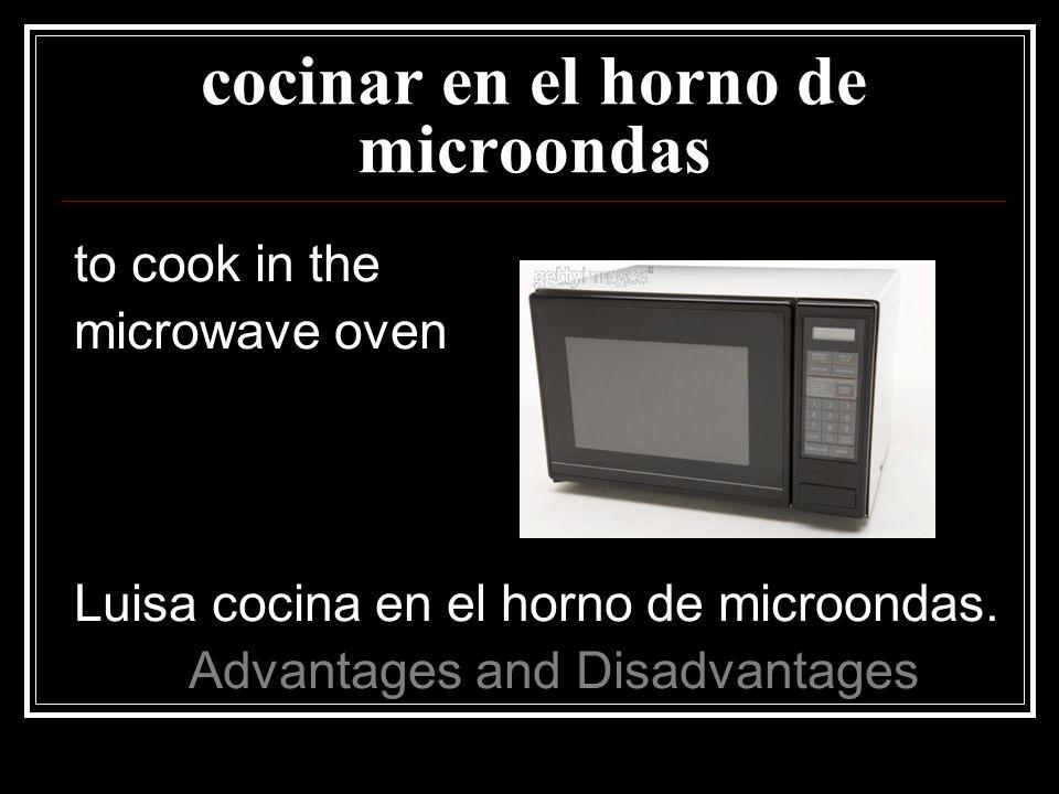 cocinar en el horno de microondas