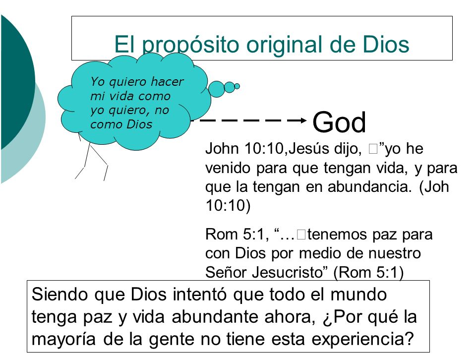 El propósito original de Dios
