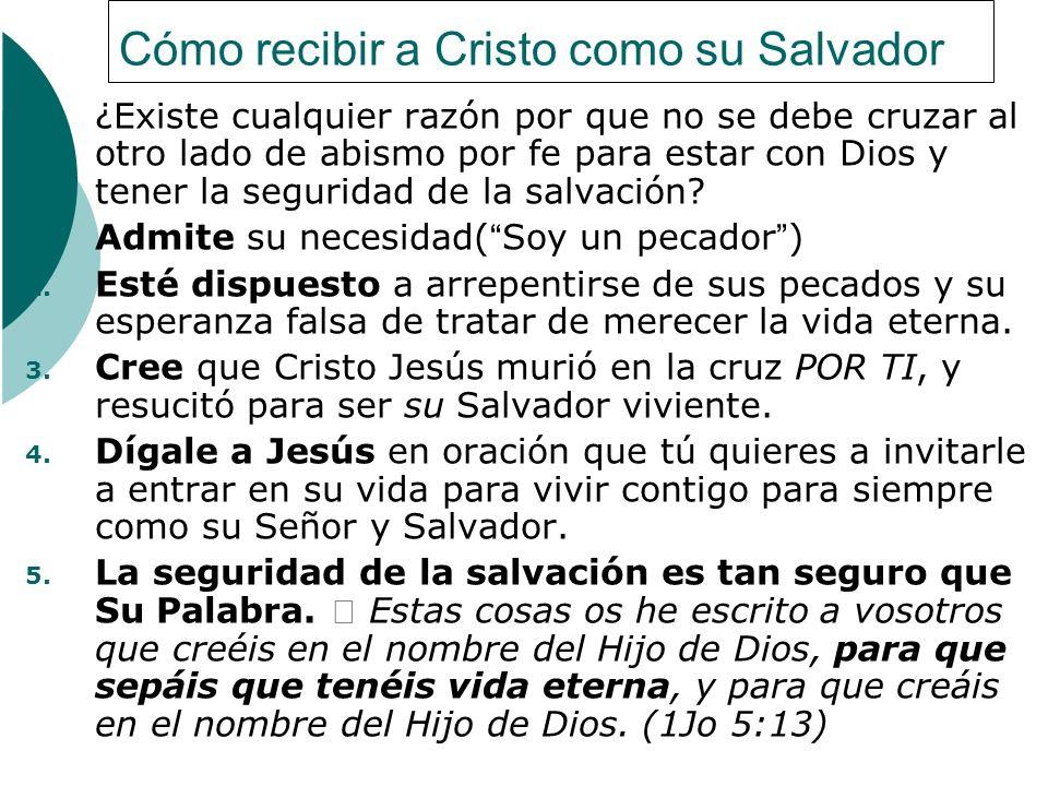 Cómo recibir a Cristo como su Salvador