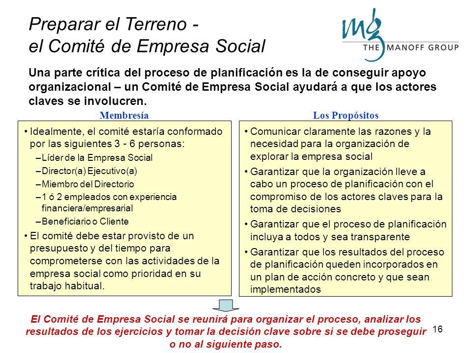Preparar el Terreno - el Comité de Empresa Social