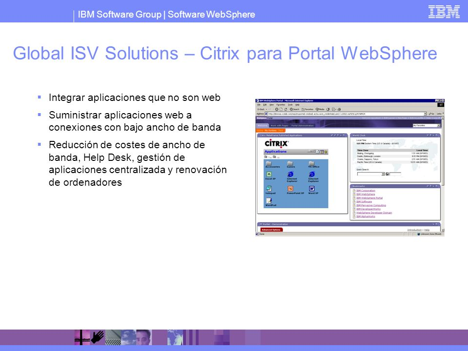 Global ISV Solutions – Citrix para Portal WebSphere