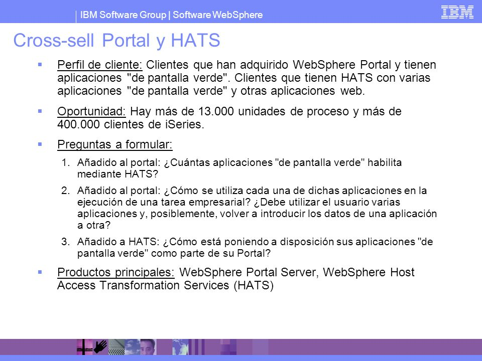 Cross-sell Portal y HATS