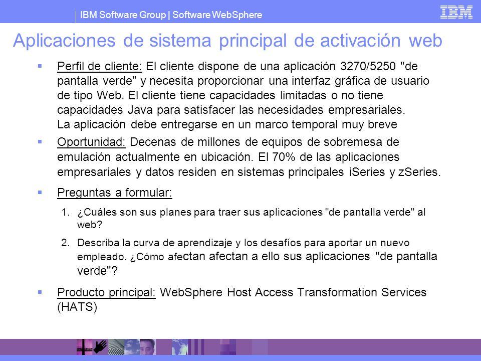 Aplicaciones de sistema principal de activación web