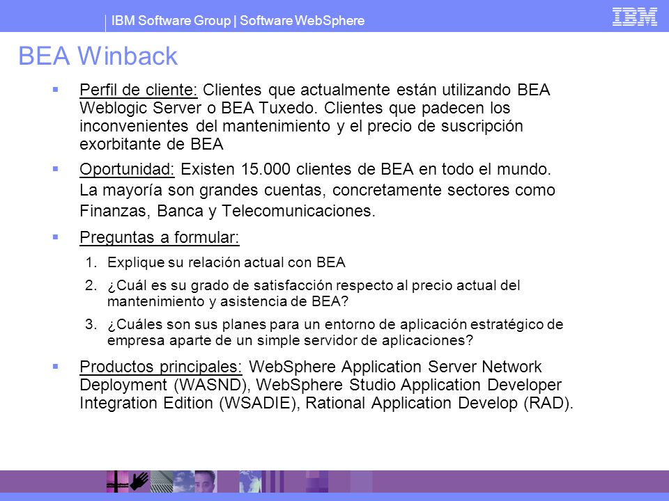 BEA Winback