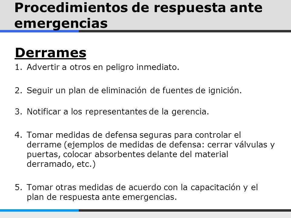 Procedimientos de respuesta ante emergencias