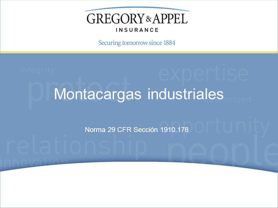 Montacargas industriales