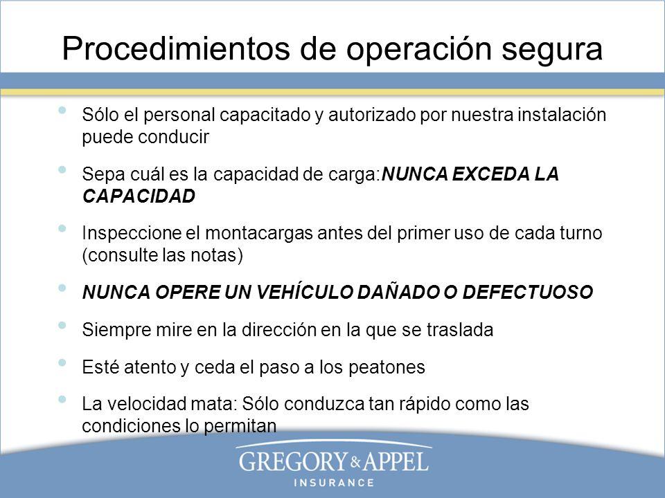 Procedimientos de operación segura