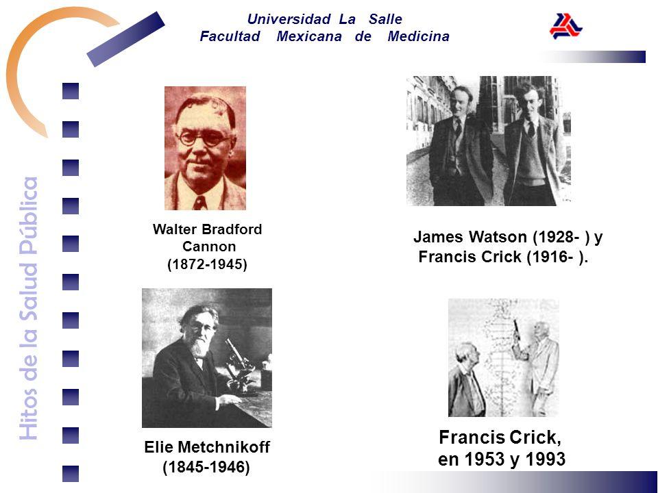 Francis Crick, en 1953 y 1993 James Watson (1928- ) y