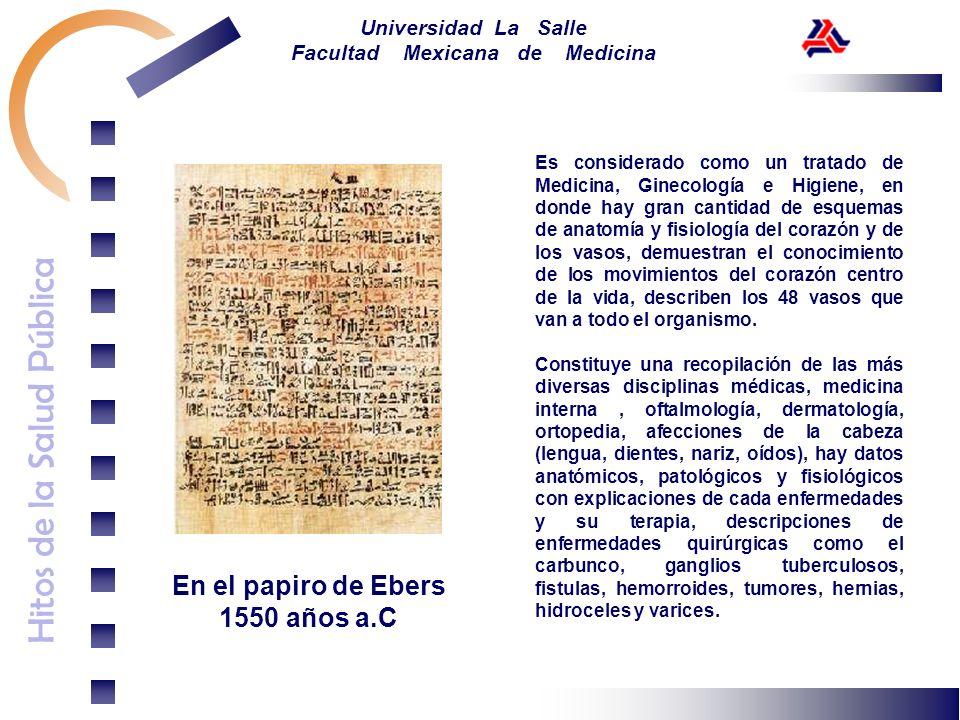 En el papiro de Ebers 1550 años a.C