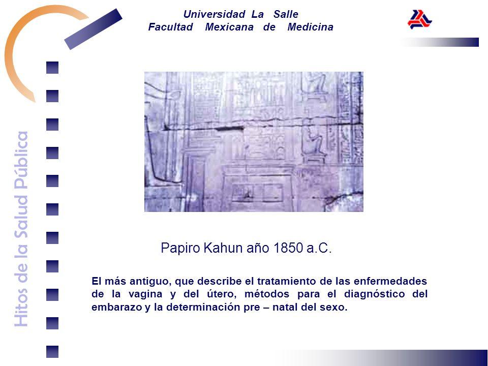 Papiro Kahun año 1850 a.C.