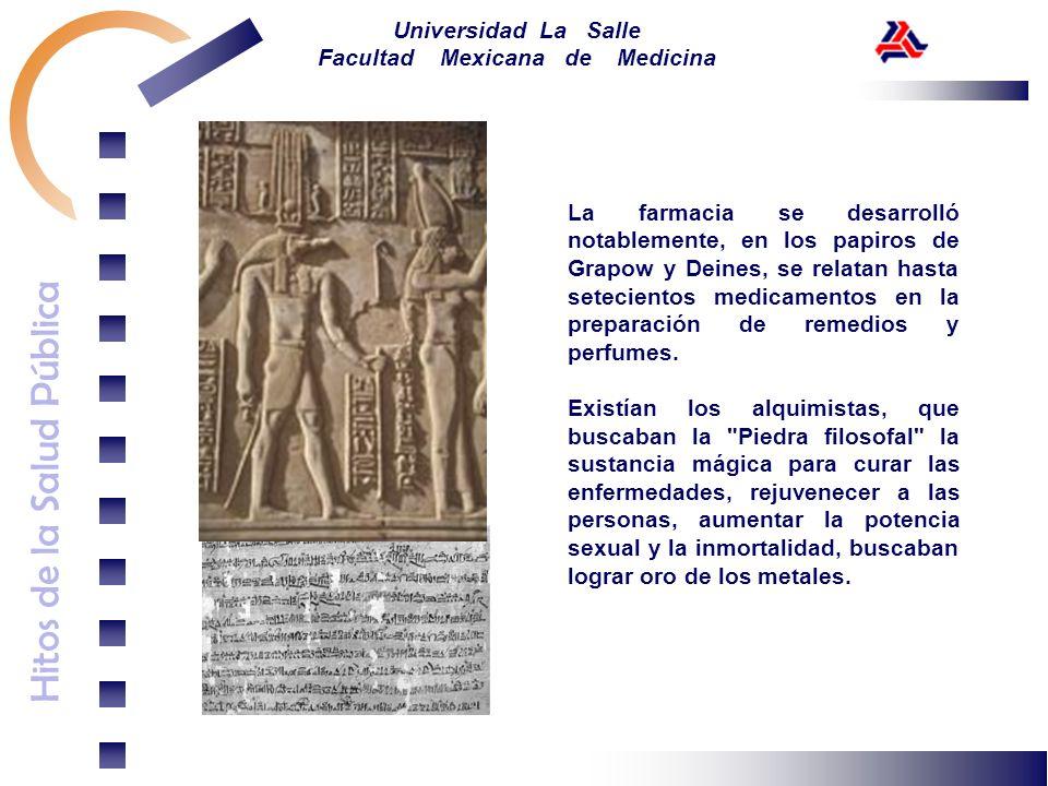 La farmacia se desarrolló notablemente, en los papiros de Grapow y Deines, se relatan hasta setecientos medicamentos en la preparación de remedios y perfumes.