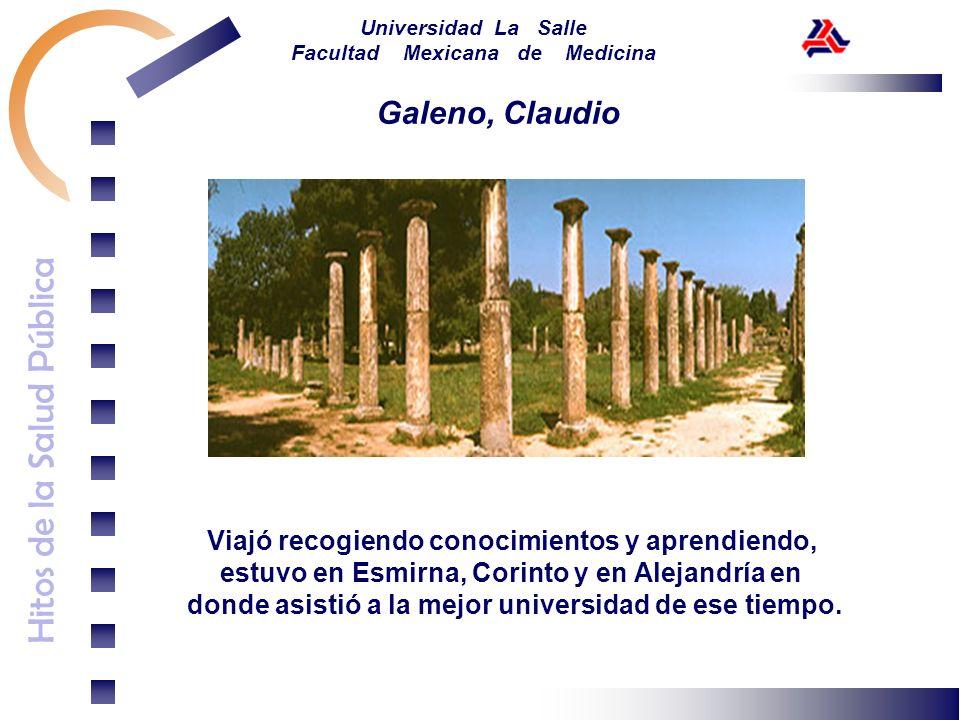 Galeno, Claudio Viajó recogiendo conocimientos y aprendiendo,
