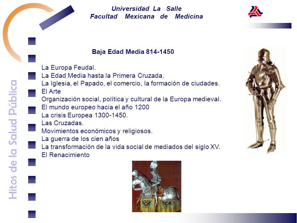 Baja Edad Media 814-1450La Europa Feudal. La Edad Media hasta la Primera Cruzada. La Iglesia, el Papado, el comercio, la formación de ciudades.