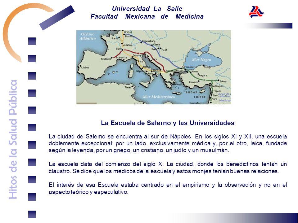 La Escuela de Salerno y las Universidades
