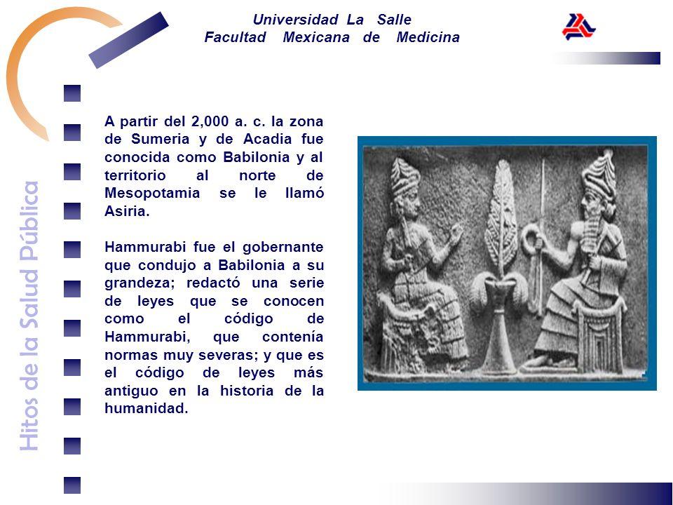 A partir del 2,000 a. c. la zona de Sumeria y de Acadia fue conocida como Babilonia y al territorio al norte de Mesopotamia se le llamó Asiria.