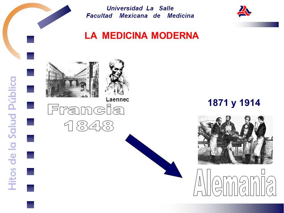 LA MEDICINA MODERNA Laennec 1871 y 1914 Francia 1848 Alemania