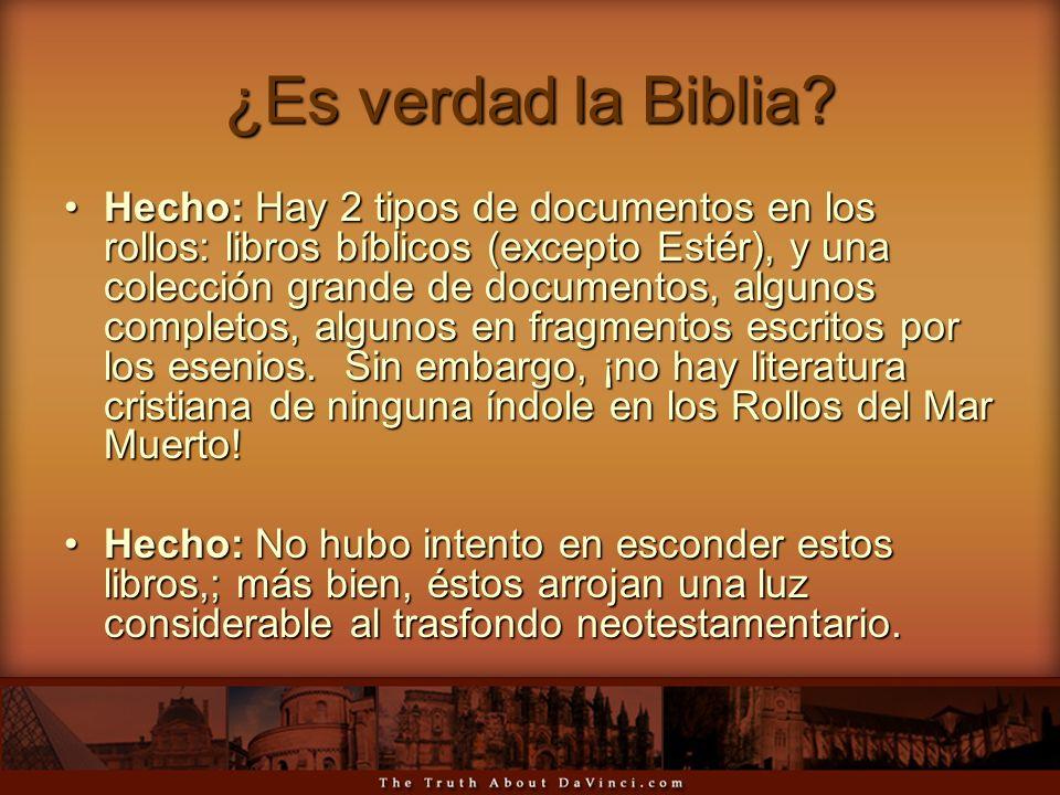 ¿Es verdad la Biblia