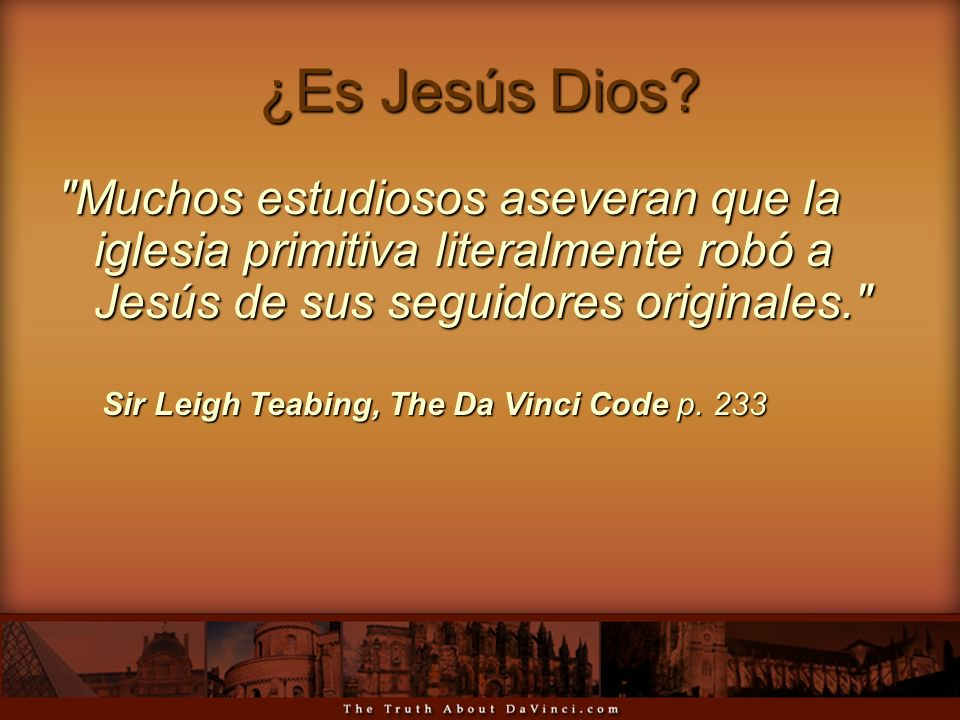 ¿Es Jesús Dios Muchos estudiosos aseveran que la iglesia primitiva literalmente robó a Jesús de sus seguidores originales.