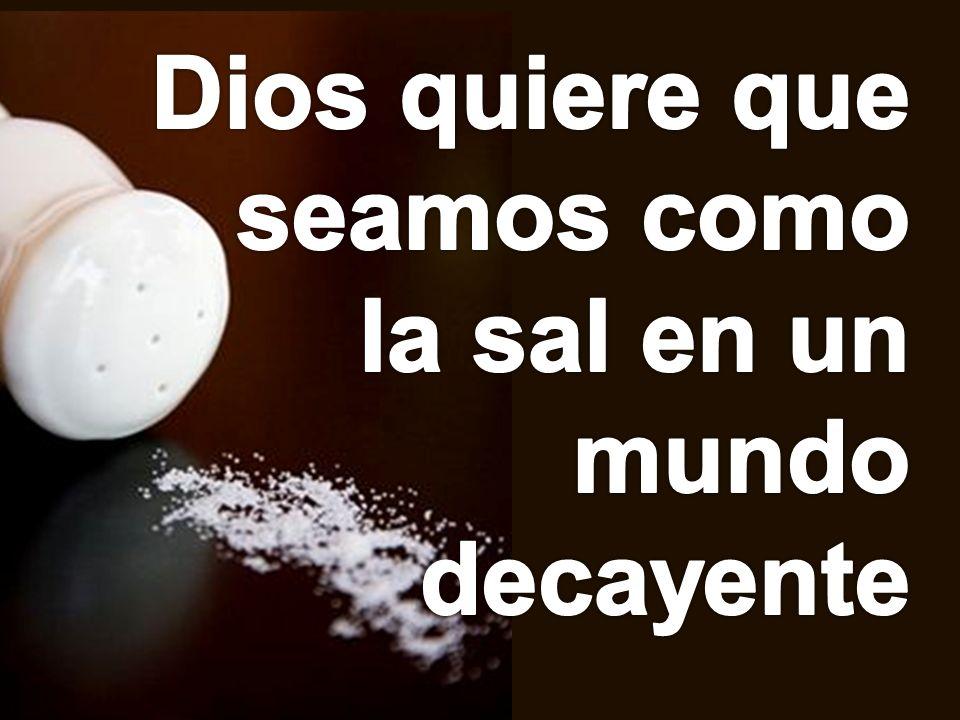 Dios quiere que seamos como la sal en un mundo decayente
