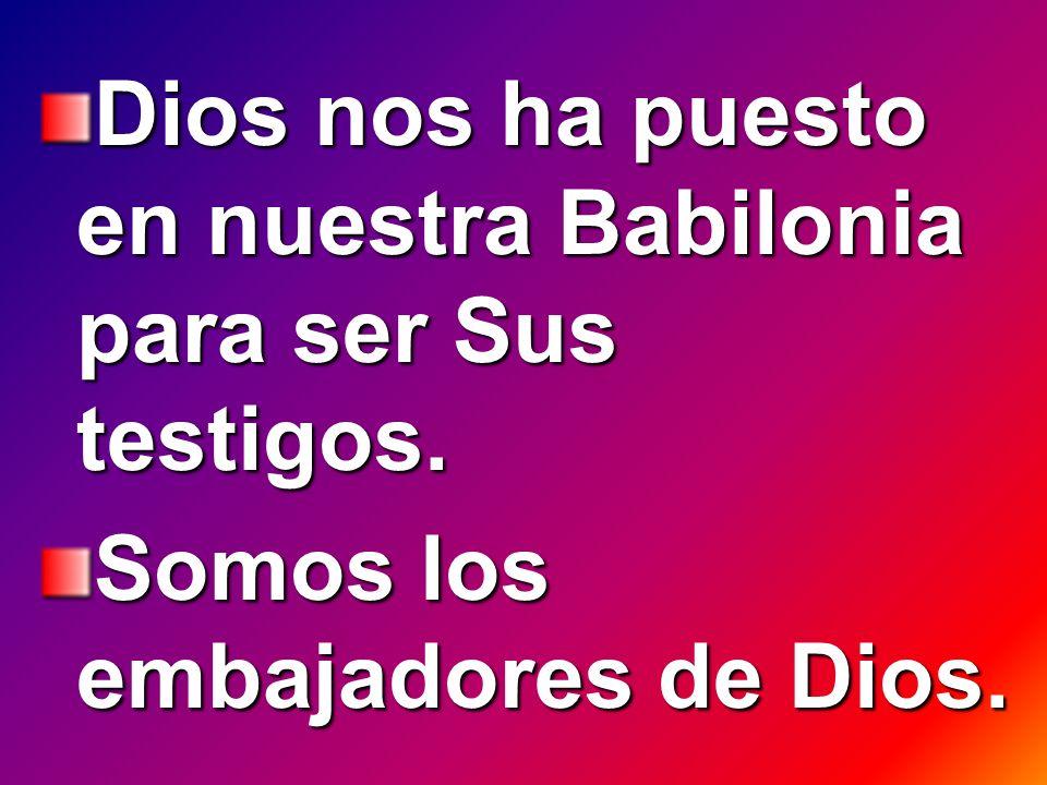 Dios nos ha puesto en nuestra Babilonia para ser Sus testigos.