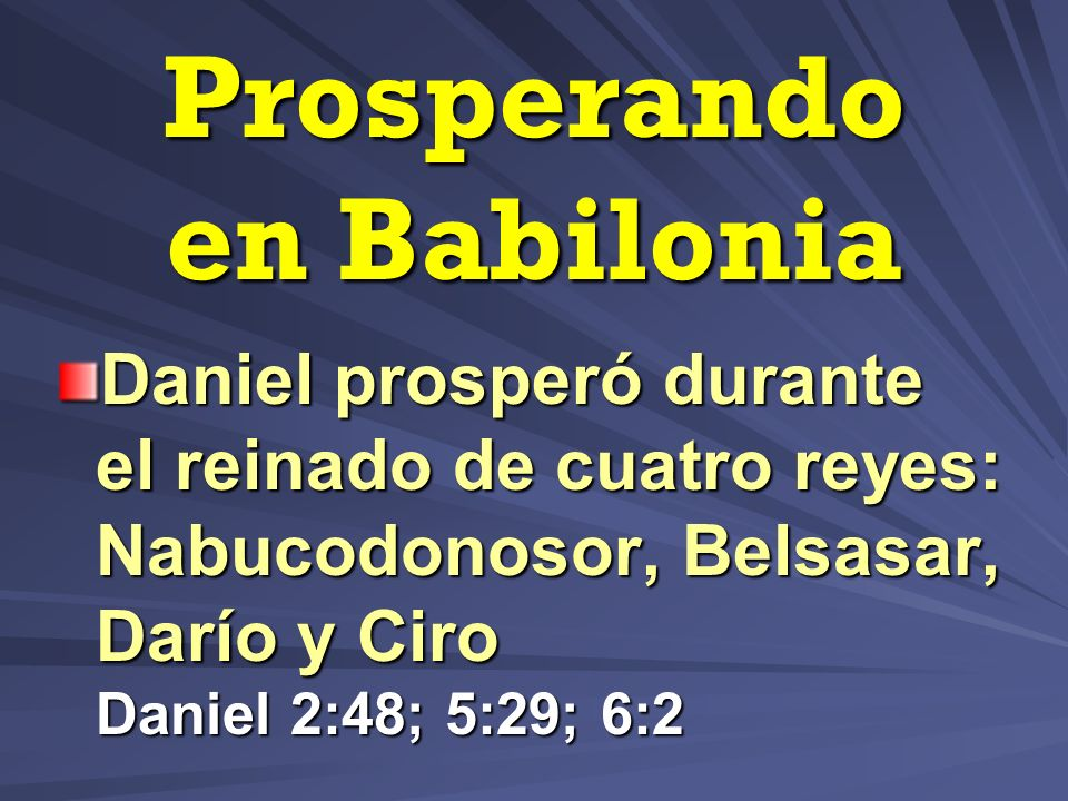 Prosperando en Babilonia