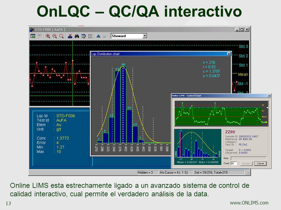 OnLQC – QC/QA interactivo