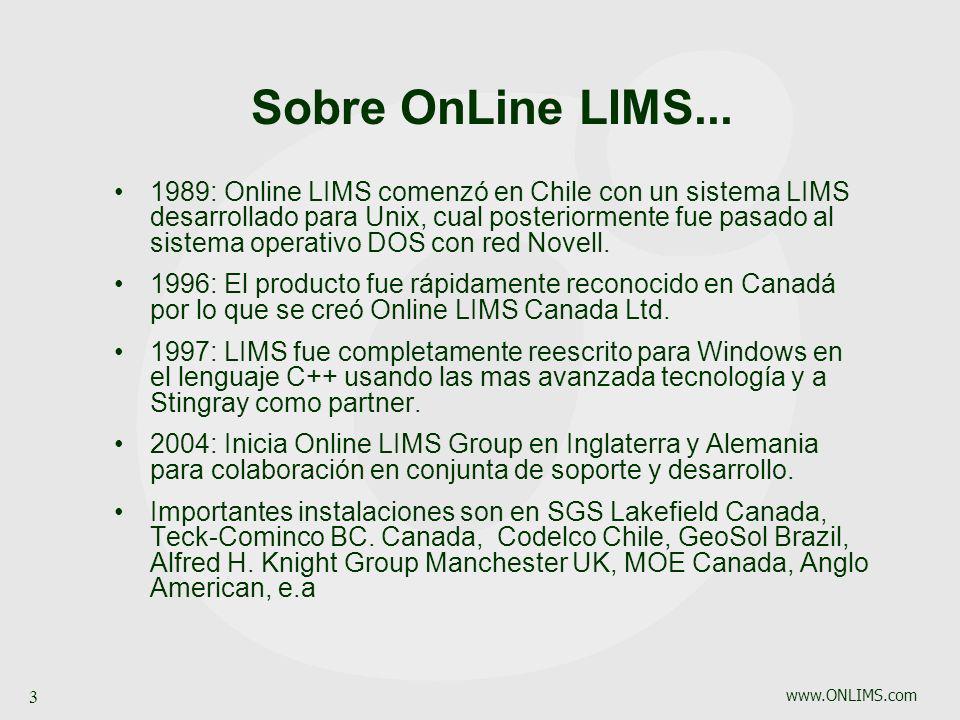 Sobre OnLine LIMS...