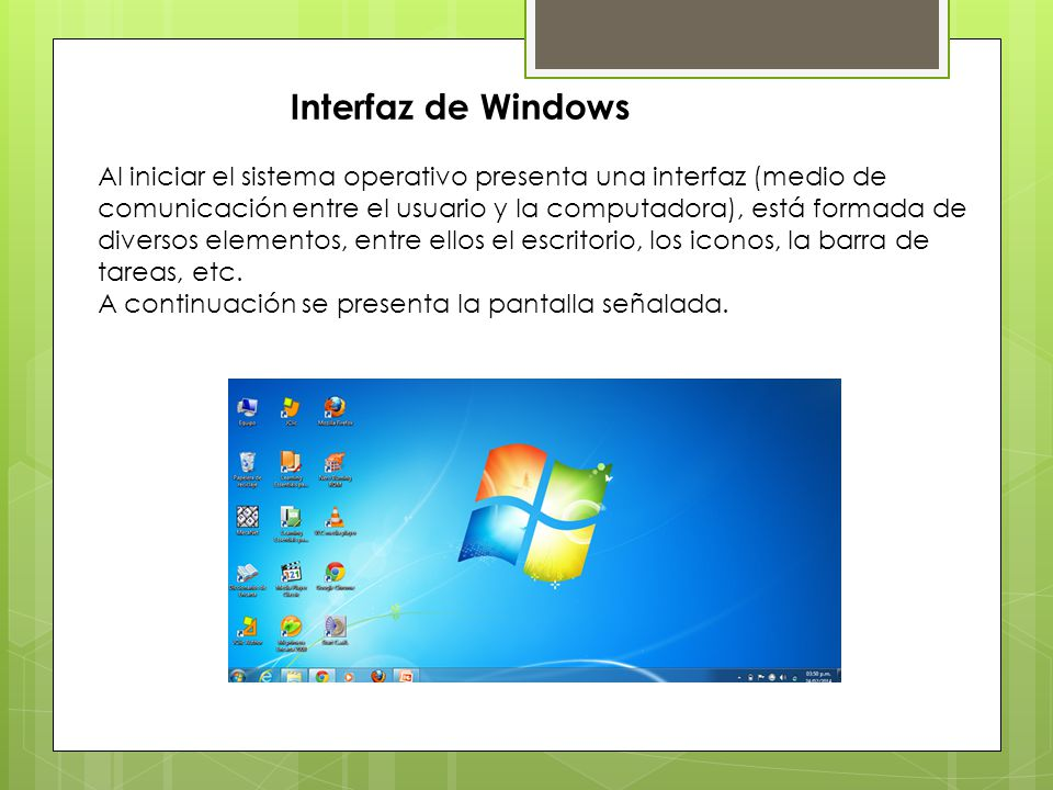 Interfaz de Windows