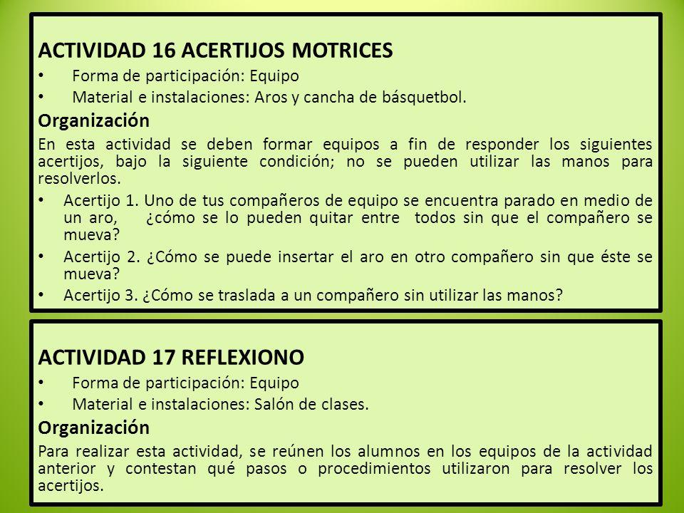 ACTIVIDAD 16 ACERTIJOS MOTRICES