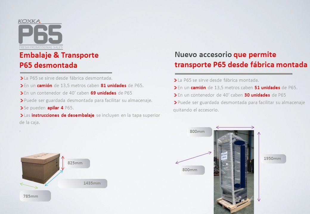 Nuevo accesorio que permite transporte P65 desde fábrica montada