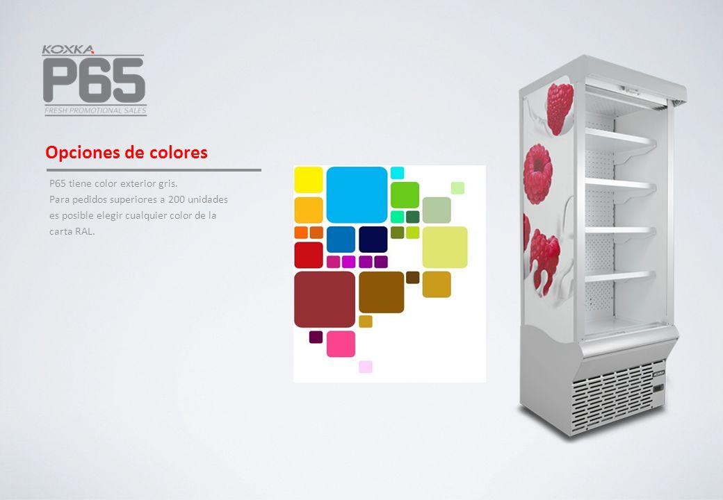 Opciones de colores P65 tiene color exterior gris.