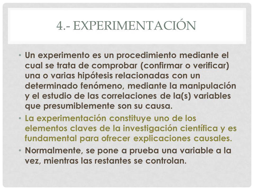 4.- experimentación