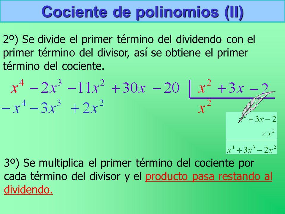 Cociente de polinomios (II)