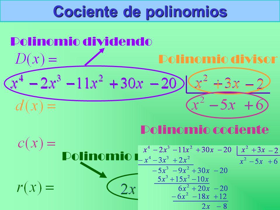 Cociente de polinomios