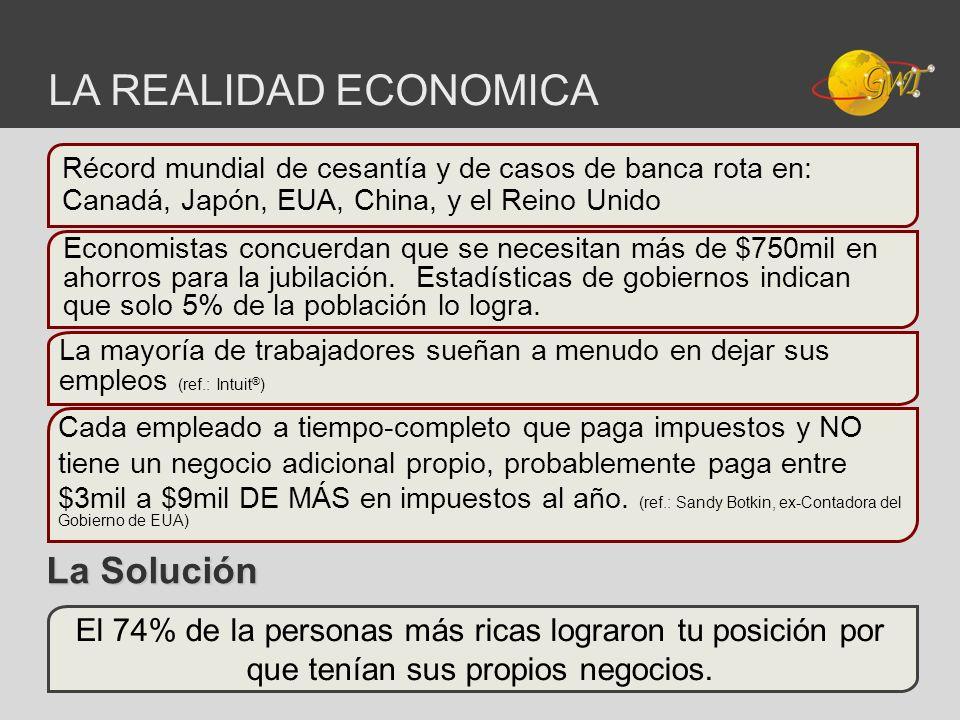 LA REALIDAD ECONOMICA La Solución