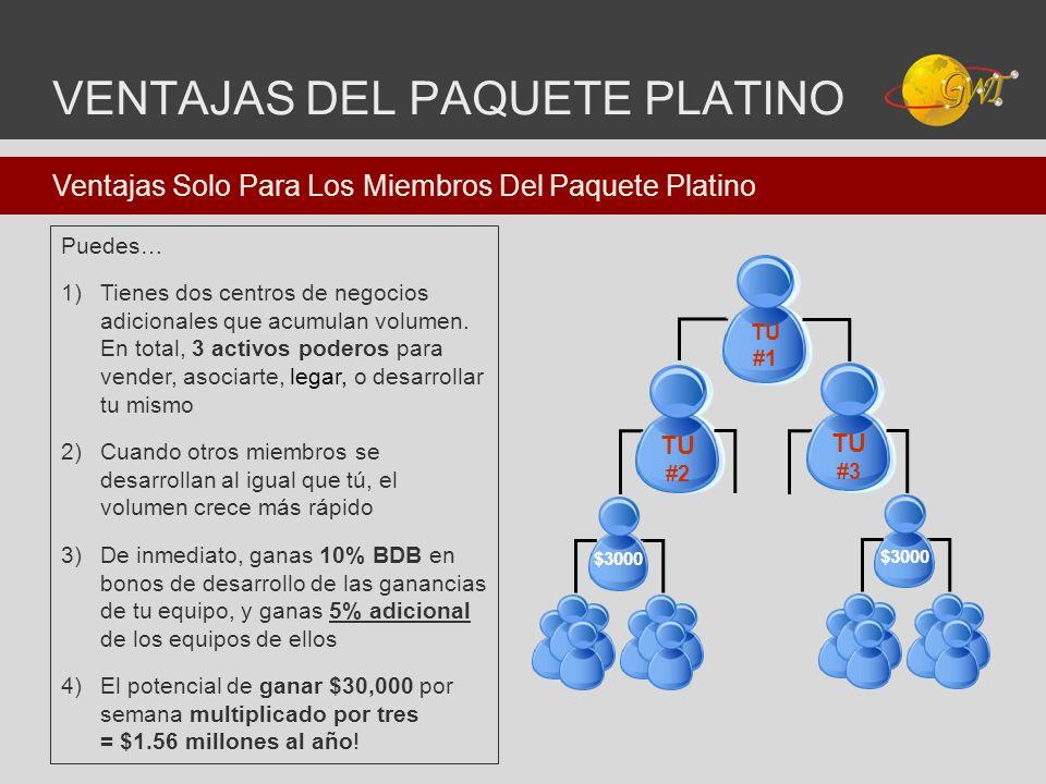 VENTAJAS DEL PAQUETE PLATINO