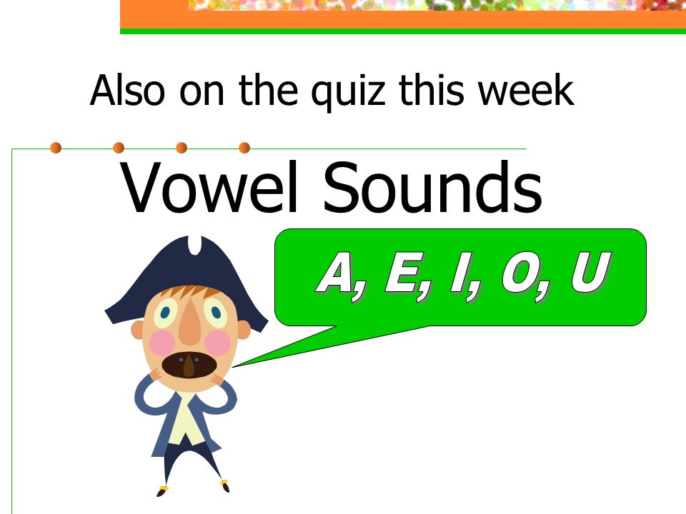 Also on the quiz this week